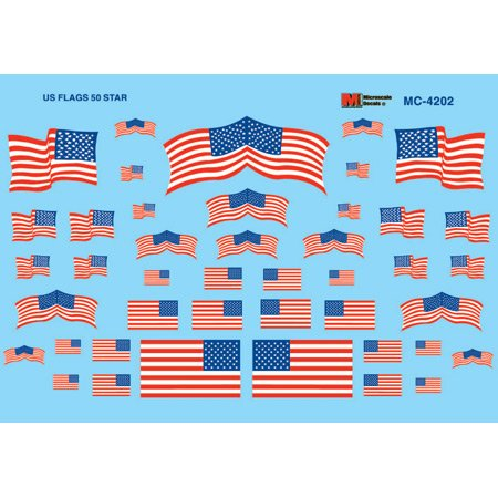 (Microscale HO Scale US Flags, 50-Star)