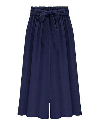 Pantalones Palazzo Mujer Fashion Estilo Alta Anchas Culotte ...