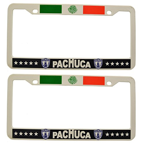 """""""Pachuca"""" Soccer License Plate Frame Plastic 2 pcs for sale  Delivered anywhere in USA"""