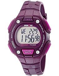 Timex Womens Ironman 30-Lap Digital Quartz Mid-Size Watch, Plum - TW5K89700