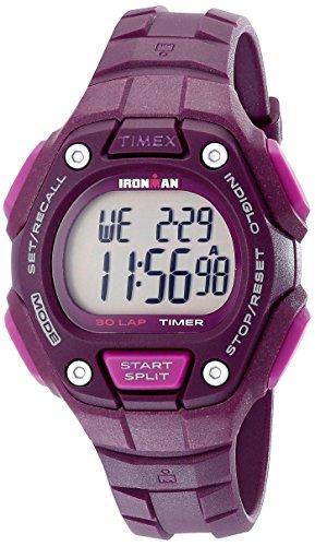 Timex Women's TW5K89700 Ironman Classic 30 Mid-Size Plum Res