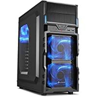 Gaming Desktop - AMD FX-8300 3.30GHz Octa-Core Processor, 16GB DDR3 Memory, NVIDIA GeForce GTX 1050Ti 4GB GDDR5 Graphics, 120GB SSD, 1TB HDD, DVDRW, Microsoft Windows 10 Pro 64-Bit, Wifi