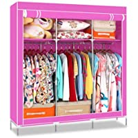 Generic New Portable Wardrobe Closet Clothing Storage Organizer Garment Hanger Rack Hot