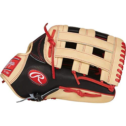 - Rawlings PROBH34-RH Heart of The Hide Outfield Gameday Left-Handed Baseball Glove, Black/Camel, 12.75