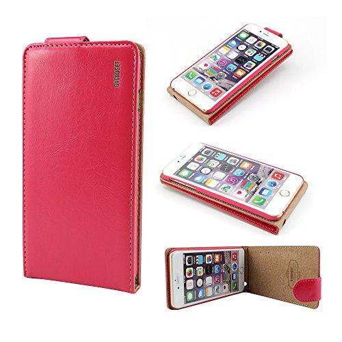 Excellent Value Iphone 6 plus (5,5 pouces) Hot Pink cuir flip Housse avec deux emplacement de carte pour Apple Iphone 6 plus (5,5 pouces)