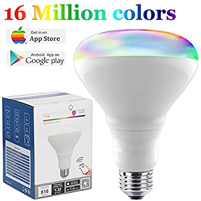 Bluetooth Smart light Bulb LED Flood Light BR30 Dimmable Wireless Night Light Multicolor Smartphone Controlled daylight Color Changing Indoor Bright 2700K-6000K 9w 13w by Shenzhen iLintek Technoligy Co,.Ltd