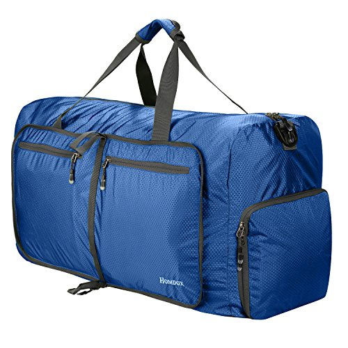 Homdox Foldable Duffle Bag 80L Large Gym Bag for Men Women,Large Camping Duffle Bag Waterproof Lightweight Packable Nylon Duffel Bag,Travelling Bags for Luggage