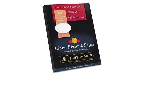 amazon com 100 cotton linen resume paper blue 32 lbs 8 1 2 x