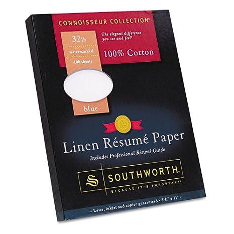100 cotton linen resume paper blue 32 lbs 8 1 - Resume Paper Amazon