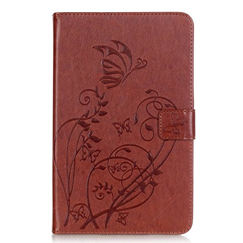 Tab E 8.0 case, Easytop Ultra Slim Fit Premium Synthetic Leather Embossing Butterfly Flower Lightweight Stand Flip Wallet Folio Cover Case for Samsung Galaxy Tab E 8.0 inch SM-T377V/P/R 4G LTE (Halloween Colorado 2016)