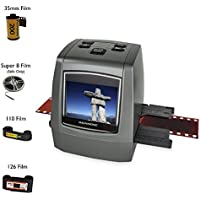 "Magnasonic All-In-One High Resolution 22MP Film Scanner, Converts 126KPK/135/110/Super 8 Films, Slides, Negatives into Digital Photos, Vibrant 2.4"" LCD Screen, Impressive 128MB Built-In Memory"