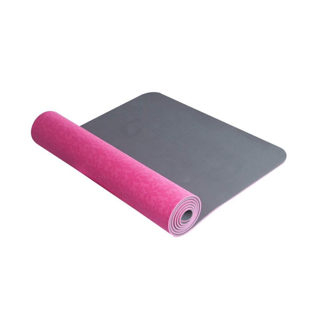 roseB 8mm FANXU Tapis de Forme Physique de Yoga de Tapis de Yoga de Sport antidérapant Favorable à l'environneHommest MultiCouleure facultatif avec Le Sac de Maille