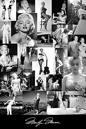 Buyartforless Marilyn Monroe Rare Picture Collage 18x12 Art Poster Print by Kelissa Semple