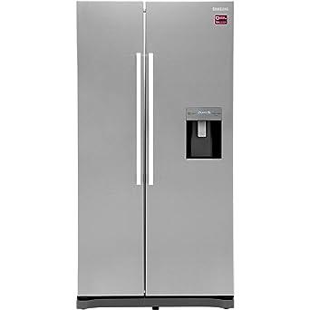 252e7b38873b Samsung RS52N3313SL Freestanding A+ Rated American Fridge Freezer -Clean  Steel