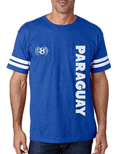 Paraguay Soccer T-shirt - TeeStars - Paraguay National Soccer Team Football Fans Football Jersey T-Shirt X-Large Blue/White