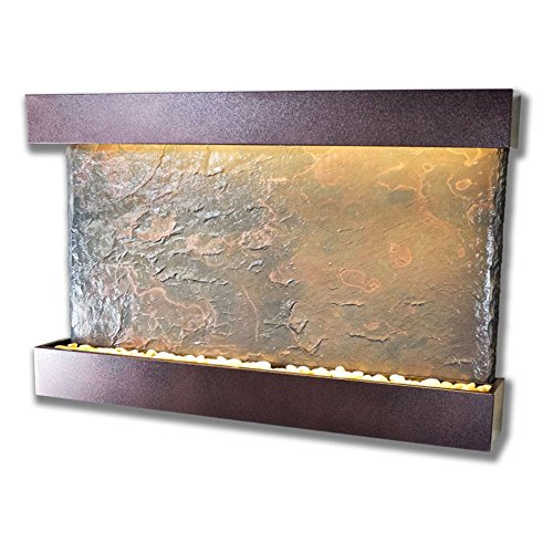 Horizon Copper Fountain (Water Wonders Slatetech Horizon Falls with Copper Vein Trim)
