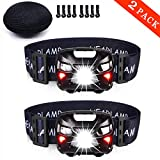 Best Rechargeable Headlamps - 2-PACK,LED Rechargeable Headlamp,Flashlight,Headlights, 3 Light Modes, with USB Review