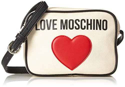 femme Sac Moschino Natural PEBBLE bandouliere black CANVAS JC4138PP15L3 Love Canvas PU Beige article t5qO1d5w