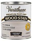 Rust-Oleum 297424 Fast Dry Premium Fast Dry Wood Stain, Antique White, 32 Oz,, quart,, Anitque White