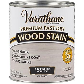 Varathane 297424 Premium Fast Dry Wood Stain, 32 oz, Antique White