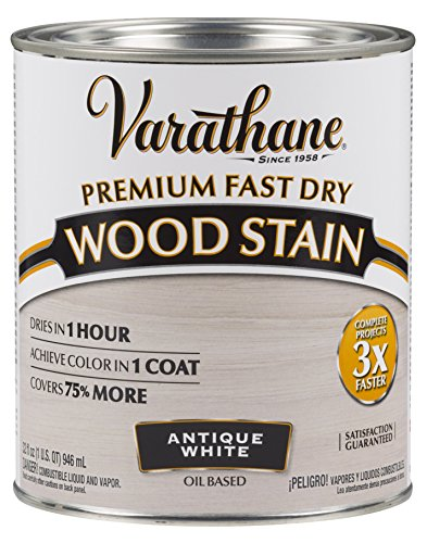 Varathane 297424 Premium Fast Dry Wood Stain, 32 oz, Antique White