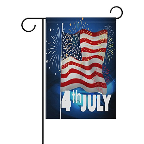 ALAZA Independence Day Garden Flag 12 x 18 Inch, Patriotic U