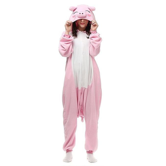 Animal Pijamas Traje Disfraz de Halloween Cerdo Rosa ...