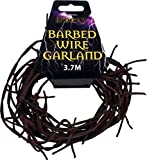 Halloween Fancy Party Plastic Coated 3.7m Black Rusty Barbed Wire Garland