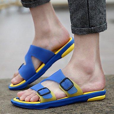 Sandalias de verano zapatos de hombre exterior / Trabajo y deber / Athletic / / vestimenta casual Zapatillas de silicona azul / amarillo / Marrón Amarillo