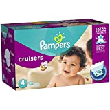 Pampers Cruisers Diapers Size-4 Economy Pack Plus, 152-Count