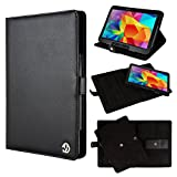 VanGoddy Black Arthur Rotatable Portfolio Case Cover for the Samsung Galaxy Tab 4 10.1 Inch