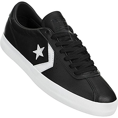 Converse Mens Breakpoint Ox Leather Trainers Schwarz Weiss