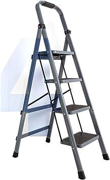 C-J-Xin Pedal de la familia del hierro de escalera, ascensores de cuatro pasos se abrieron Home Design Escalera - espesado Hierro - Gris, Rojo, Blanco Escalera de casa: Amazon.es: Bricolaje y herramientas
