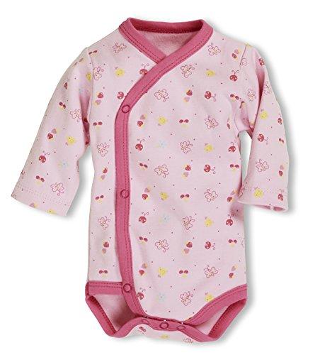 Schnizler Wickelbody rosa allover baby-meisjes body