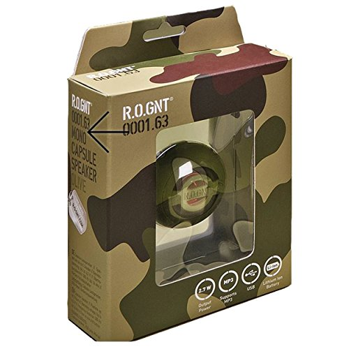 R.O.GNT Portable In-Line Wired MP3 Capsule Speaker for mobile Devices, Smartphone, iPhone and Tablet, Laptop, Notebook (Wired, Capsule) (Olive) by R.O.GNT (Image #3)