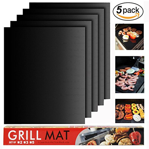 Buy Cheap BBQ Grill Mat Set of 5 - Heavy Duty 100% Non-Stick BBQ Grill Mats, BBQ Grill & Baking Ma...