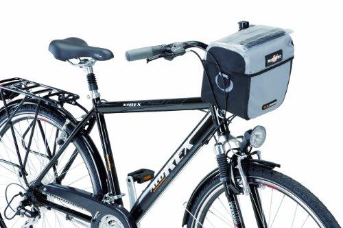 REXBike Travel-Lenkerpacktasche Wasserdicht mit Adapter, schwarz- grau, 864