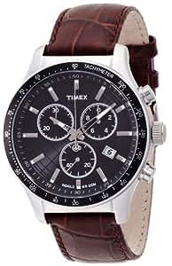 Timex T2N819 T2N819D7 - Reloj analógico de cuarzo para hombre, correa de cuero color marrón