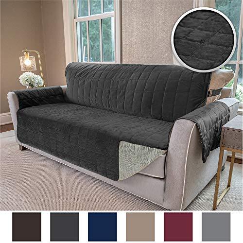Gorilla Grip Original Velvet Slip Resistant Luxurious Sofa Slipcover Protector, Seat Width Up to 70