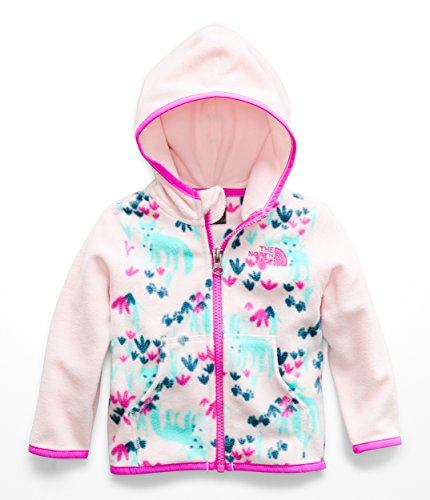 (The North Face Infant Glacier Full Zip Hoodie - Purdy Pink Fox Floral Print - 18M)