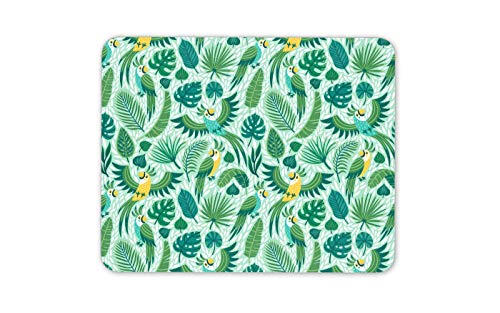 (Pretty Parrots Mouse Mat Pad - Green Birds Jungle Tropical Computer Gift #15466)