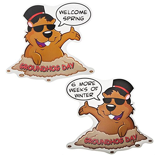 [Groundhog Day Cutout Party Accessory (1 count)] (Gopher Costumes)