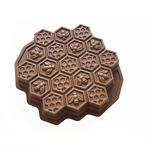 X-Haibei Bee Honeycomb Pull Apart Cake Baking Pan Silicone Soap Gelatin Bath Bomb Mold
