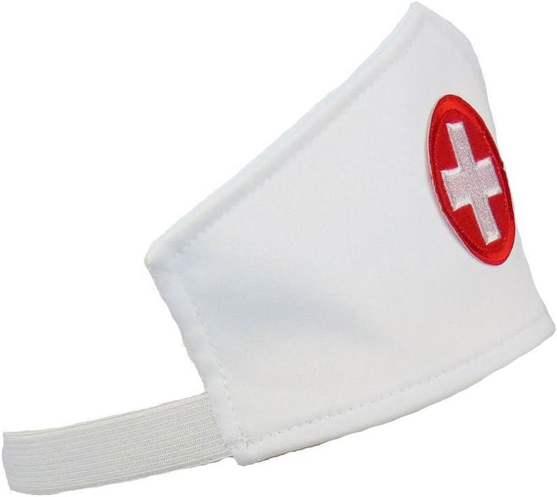 Haube und Sch/ürze Partybob Krankenschwester Kost/üm Set