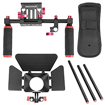Neewer Camera Movie Video Making Rig System Film-maker Kit For Canon Nikon Sony & Other Dslr Cameras, Dv Camcorders,includes: Shoulder Mount, Standard 15mm Rail Rod System, Matte Box (Red & Black) 1