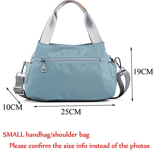 Small Zipper Pockets Crossbody Bag with Lightweight Brown Nylon Women light Katloo Bag Green Handbags for Green Tote Purse Shoulder IvrPFv