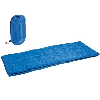 Saco de dormir individual de poliéster Antiumidità con cremallera lateral Camping Outdoor Camping Playa con bolsa