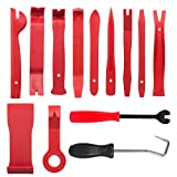 X-Things 13 Pcs Premium Auto Trim Removal Tool Kits with Fastener Hose Remover, Pry Installer Tool...