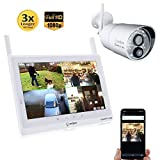 Sequro GuardPro2 Plus 1080P Wireless Security Camera System Long Range with IP66 Outdoor Camera, 10-inch Touchscreen Monitor, Night Vision for Home, Warehouse, Barn, Driveway (1-cam kit)
