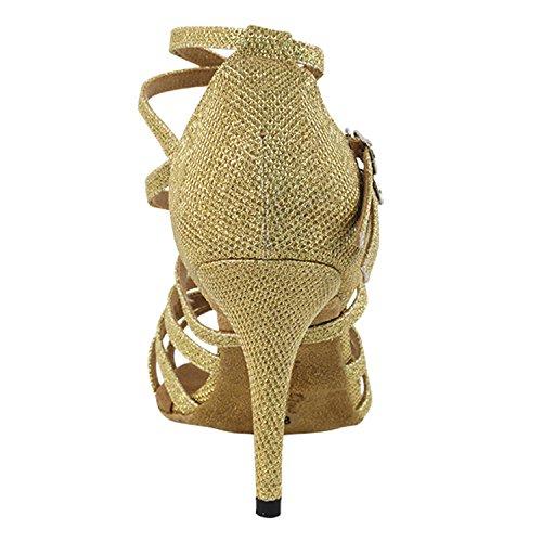 """50 Shades Of Gold Tanzschuhe Sammlung, Komfort Abendkleid Hochzeit Pumps: Ballroom Schuhe für Latin, Tango, Salsa, Swing, Kunst von Party Party (2,5 """"3"""" & 3,5 """"Heels) 5008 - Gold Glitter Satin"""